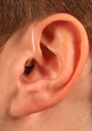Mini BTE with slim tube and tip hearing aid